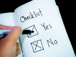 checklista inför ansökan